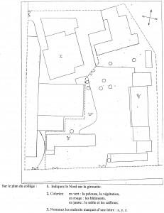 plan du collège Fournier